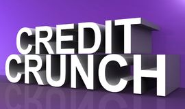 Credit crunch sign. In large 3d letters vector illustration