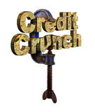 Credit crunch words in a vice Royalty Free Stock Photography