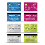 Credit or debet cards design set Royalty Free Stock Photography