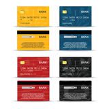 Credit or debet cards design set Stock Image