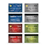 Credit or debet cards design set Royalty Free Stock Photos