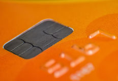 Credit or debit card chip royalty free stock image