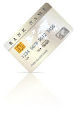 Credit or debit card design template Royalty Free Stock Image