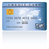 Credit or debit card design. Template. Vector illustration Stock Image