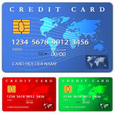 Credit or debit card design template. Vector illustration Royalty Free Stock Photography