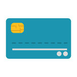 Credit or debit card icon. Flat design credit or debit card icon illustration vector illustration