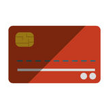 Credit or debit card icon. Flat design credit or debit card icon illustration stock illustration