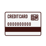 Credit or debit card icon image. Vector illustration design Stock Image