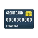 Credit or debit card icon image. Vector illustration design Stock Images