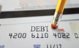 Credit debt Stock Images