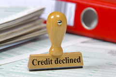 Credit declined Royalty Free Stock Photography