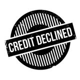 Credit Declined rubber stamp Royalty Free Stock Images