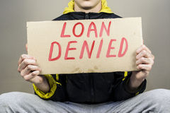 Credit is denied Royalty Free Stock Photo