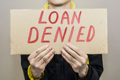 Credit is denied Stock Photo