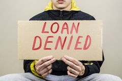 Credit is denied Stock Image