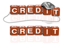 Credit direct money online loan Royalty Free Stock Photography