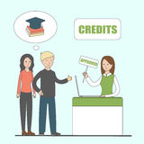 Credit for education. Stock Image