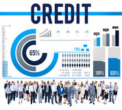 Credit Finance Economic Money Budget Concept Royalty Free Stock Photography