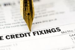 Credit fixing Royalty Free Stock Images