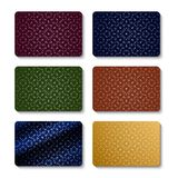 Credit or gift card set template design. Vector abstract pattern. stock illustration