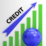 Credit Graph Means Financing Lending Stock Photos