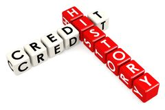 Credit history buzzword in red and white Stock Photo