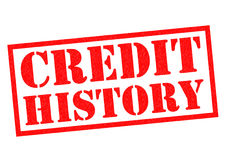 CREDIT HISTORY Stock Image