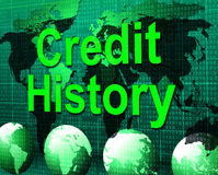 Credit History Represents Debit Card And Bankcard Royalty Free Stock Image