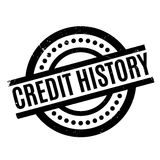 Credit History rubber stamp Royalty Free Stock Photos