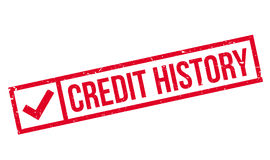 Credit History rubber stamp Stock Photography