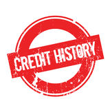 Credit History rubber stamp. Grunge design with dust scratches. Effects can be easily removed for a clean, crisp look. Color is easily changed Stock Photos