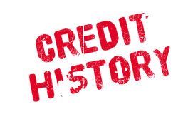 Credit History rubber stamp. Grunge design with dust scratches. Effects can be easily removed for a clean, crisp look. Color is easily changed Stock Photo