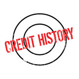 Credit History rubber stamp. Grunge design with dust scratches. Effects can be easily removed for a clean, crisp look. Color is easily changed Stock Photography