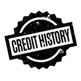 Credit History rubber stamp. Grunge design with dust scratches. Effects can be easily removed for a clean, crisp look. Color is easily changed Stock Images
