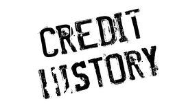 Credit History rubber stamp. Grunge design with dust scratches. Effects can be easily removed for a clean, crisp look. Color is easily changed Royalty Free Stock Images