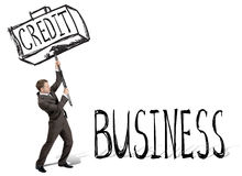 Credit hit business Royalty Free Stock Image
