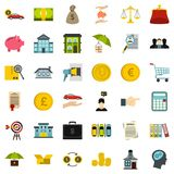 Credit icons set, flat style. Credit icons set. Flat style of 36 credit vector icons for web isolated on white background Stock Photography