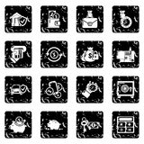Credit icons set grunge vector. Credit icons set vector grunge isolated on white background Stock Photography