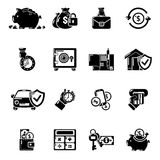 Credit icons set, simple style Stock Images