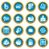 Credit icons set, simple style. Credit icons set. Simple illustration of 16 credit vector icons for web Stock Photos