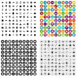 100 credit icons set vector variant. 100 credit icons set vector in 4 variant for any web design isolated on white Stock Images