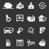 Credit icons set grey vector. Credit icons set vector white isolated on grey background Royalty Free Stock Images