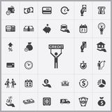 Credit icons universal set. For web and mobile Royalty Free Stock Photo