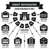 Credit infographic concept, simple style Stock Images