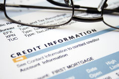 Credit  information Royalty Free Stock Images