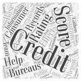 Credit information score word cloud concept word cloud concept vector background Stock Photography