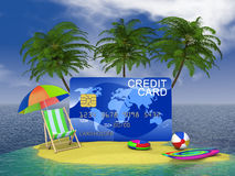 Credit  island Royalty Free Stock Photography
