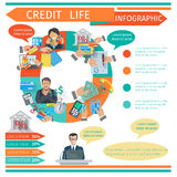 Credit Life Infographics Royalty Free Stock Photography