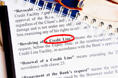 Credit line Stock Photography