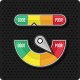Credit meter on a black background Stock Photos